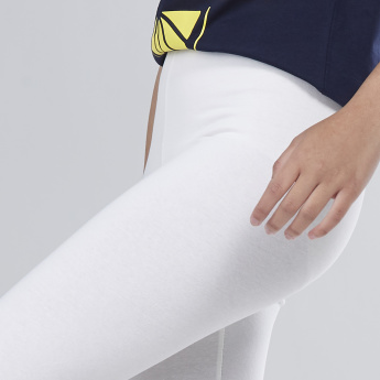 Solid Leggings with Elasticised Waistband