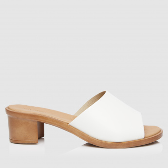 Slip-On Block Heel Sandals