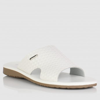 Textured Slip-On Sandals