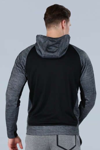 Textured Hood Jacket with Mesh Back