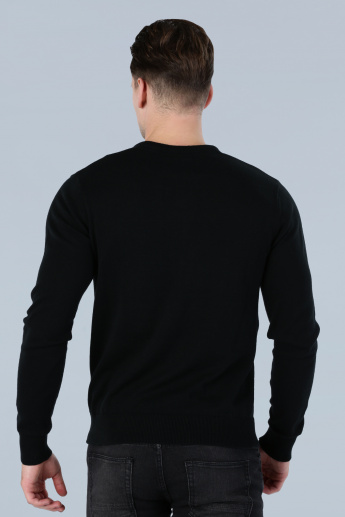 V-Neck Sweatshirt with Long Sleeves
