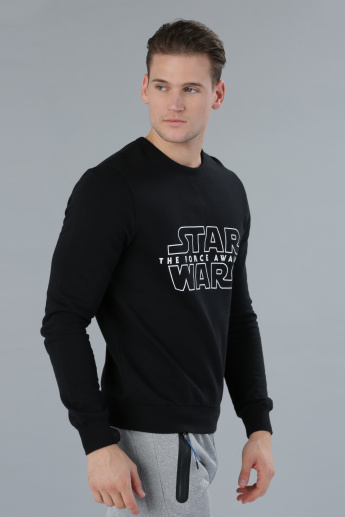 Star Wars Printed Sweater with Long Sleeves
