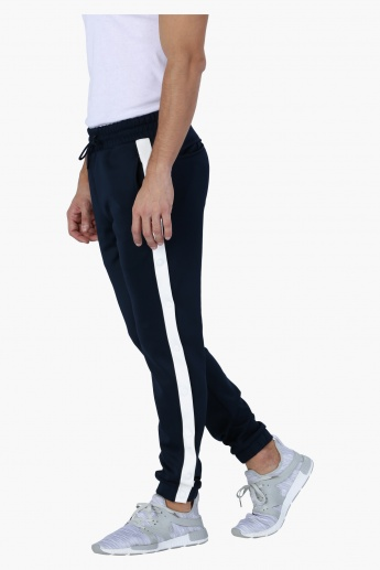 Full Length Jog Pants with Contrast Stripe