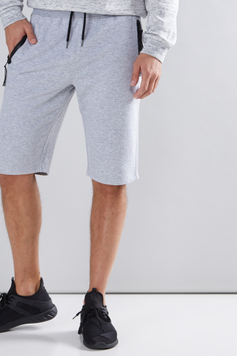 Printed Shorts with Elasticised Drawstring and Pocket Detail