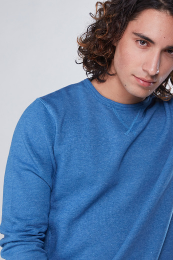 Stitch Detail Sweatshirt with Long Sleeves