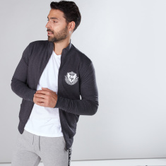 Reversible Jacket with High Neck and Long Sleeves
