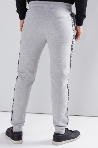 Tape and Pocket Detail Jog Pants with Elasticised Waistband