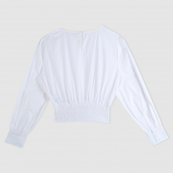 Long Sleeves Top with Lace Closure