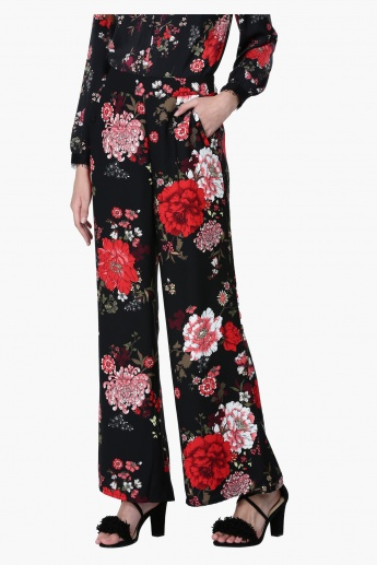 Printed Full Length  Palazzo Pants  with Elasticised Waistband