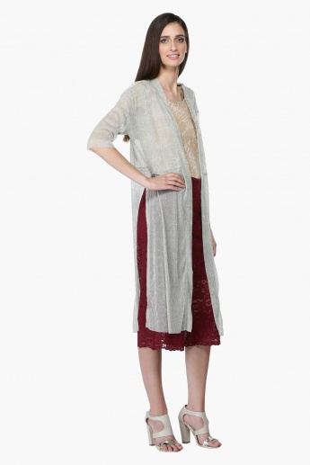 Longline Shrug with Kimono Sleeves and Slits