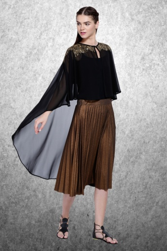 3/4 Sleeves Longline Shrug with Open Front