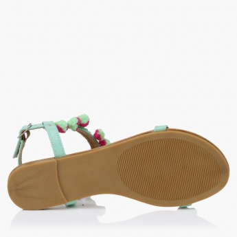 Buckle Sandals with Toe Strap