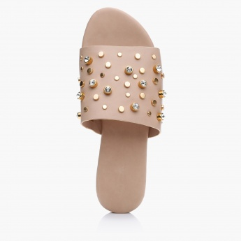 Studded Slip-On Sandals