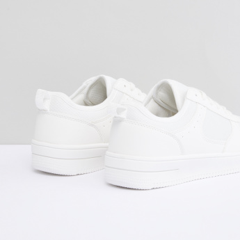 Textured Slip-On Shoes with Grosgrain Pull Tab