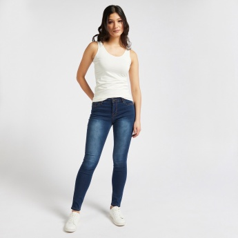 Full Length Mid-Rise Slim Fit Jeans