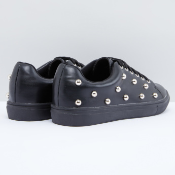 Studded Lace-Up Shoes
