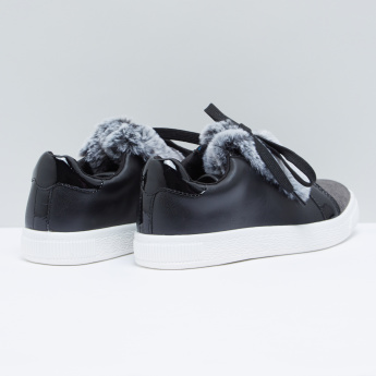 Plush Detail Shoes