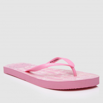 Hello Kitty Printed Slip-On Flip Flops
