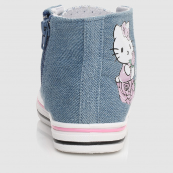 Hello Kitty Printed Shoes with Zip Closure