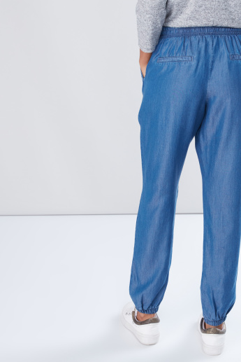 Pocket Detail Harem Pants with Elasticised Waistband