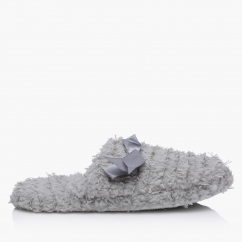 Plush Bedroom Slippers with Applique