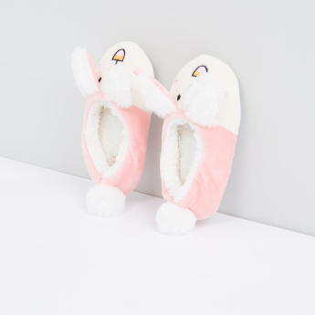 Plush Bunny Slip-On Bedroom Shoes