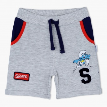 Smurfs Printed Shorts with Elasticised Waistband