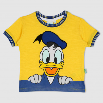 48848220 Donald Duck Printed Round Neck Short Sleeves T-Shirt | Multicolour | Printed