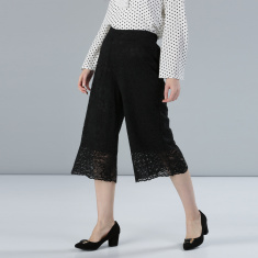 Culottes with Lace Detail