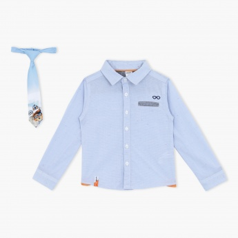 Long Sleeves Shirt and Tie Set