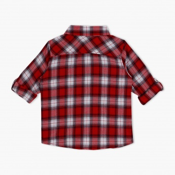 Chequered Printed 3/4 Sleeves Shirt