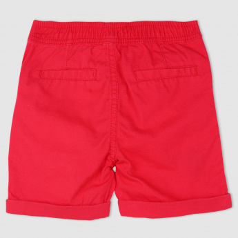 Shorts with Drawstring and Applique Detail