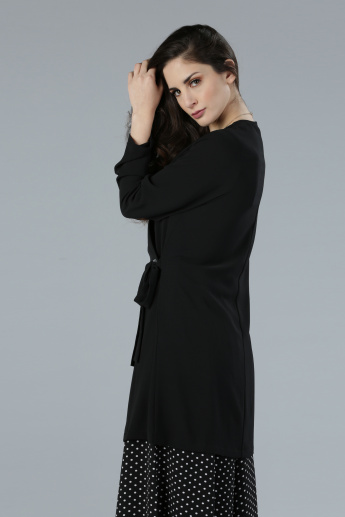 Wrap Front Shrug with Long Sleeves