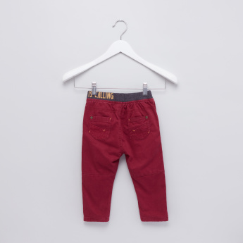 Pocket Detail Trousers with Printed Waistband