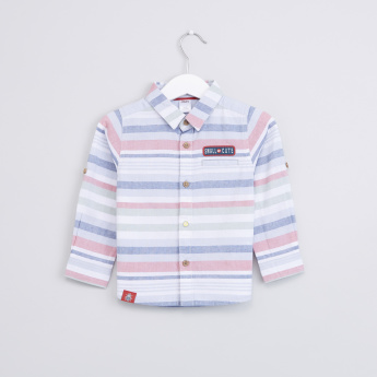 Striped Long Sleeves Button Through Shirt