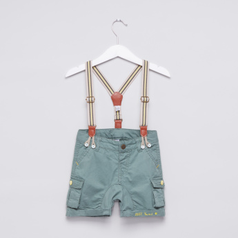 Cargo Shorts with Suspender Belt