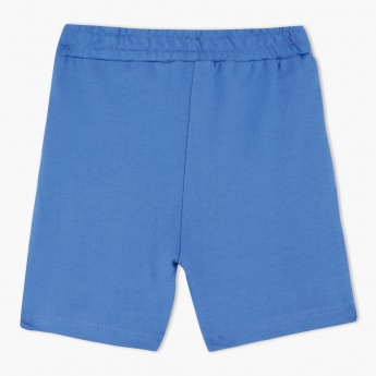 Knitted Shorts with Elasticised Waistband and Drawstring