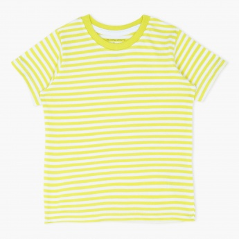 Striped Round Neck and Short Sleeves T-Shirt