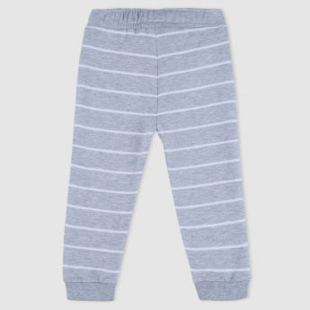 Striped Full Length Jog Pants with Pocket Detail