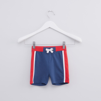 Side Panel Shorts with Elasticised Waistband and Drawstring