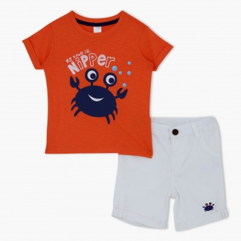 2-Piece Printed T-Shirt and Shorts Set