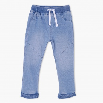 Denim Jog Pants with Elasticised Waistband