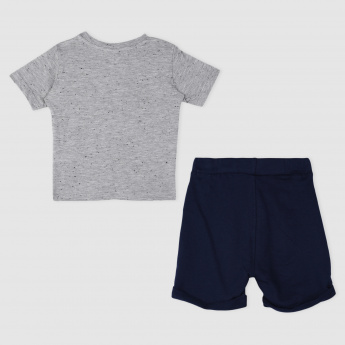 Mickey Mouse Print T-Shirt and Short Set