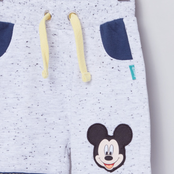 Mickey Mouse Printed T-Shirt with Shorts