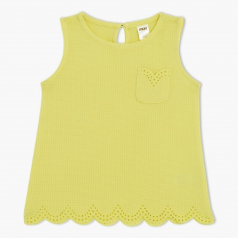 Sleeveless Round Neck Top