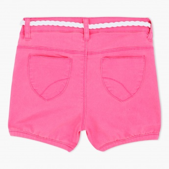 Elasticated Shorts with Belt