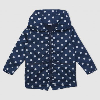 Polka Dots Printed Long Sleeves Jacket