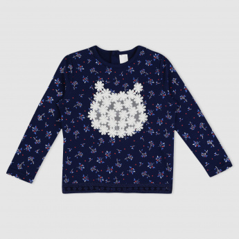 Printed Long Sleeves Sweat Top