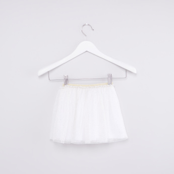 Textured Tutu Skirt with Elasticised Waistband