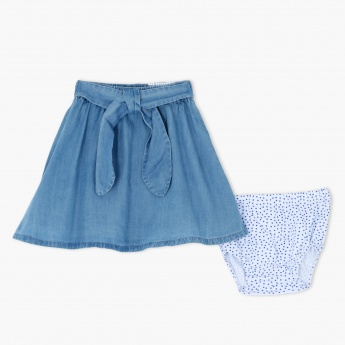 Denim Skirt and Bloomer Set